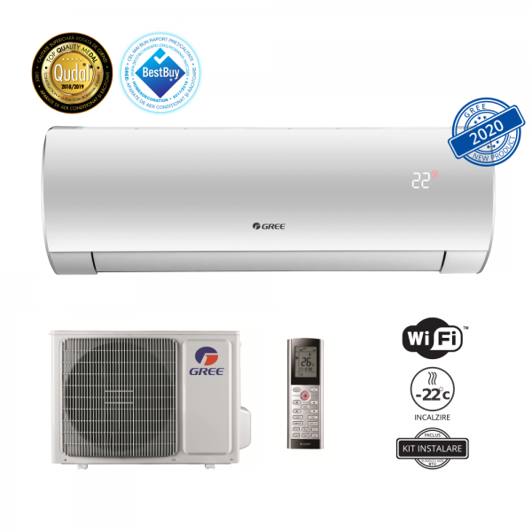 GREE Aer conditionat Fairy LCLH Inverter 12000 BTU - GWH12ACC-K6DNA1D, Wi-Fi cu Kit Instalare inclus