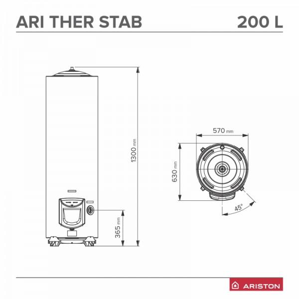 Boiler electric Ariston ARI 200 STAB 570 THERM TM VS EU