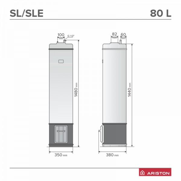 Boiler pe lemne Ariston SLE 80