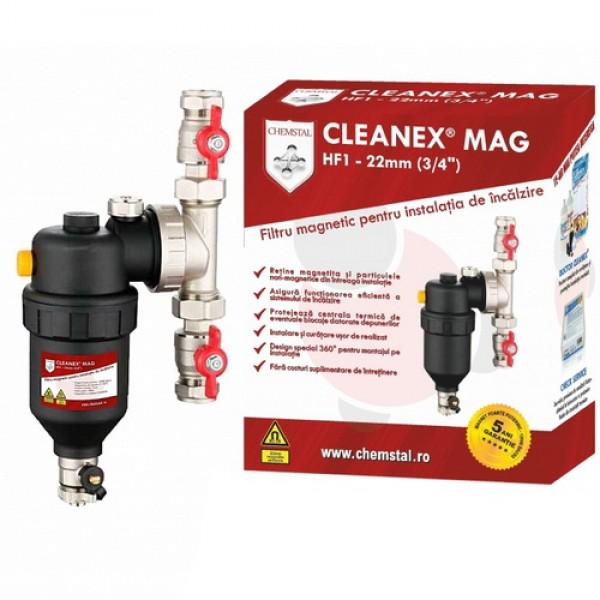 Filtru Antimagnetita Cleanex HF1 3/4 + robineti si solutie de curatare