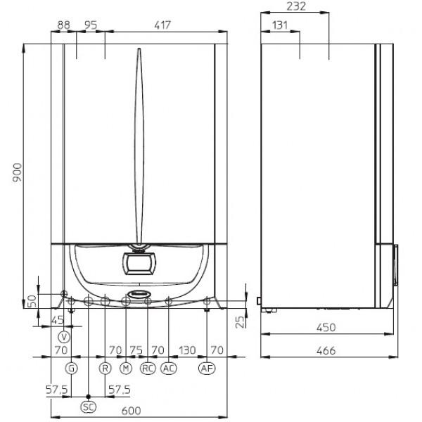 Immergas Centrala termica cu boiler incorporat Victrix Zeus Superior 32-2 Erp 32 kW (3.025456)