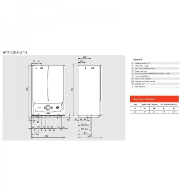 Immergas Centrala termica cu boiler 45 litri Victrix Zeus 25 - 25 kW (3.028381)