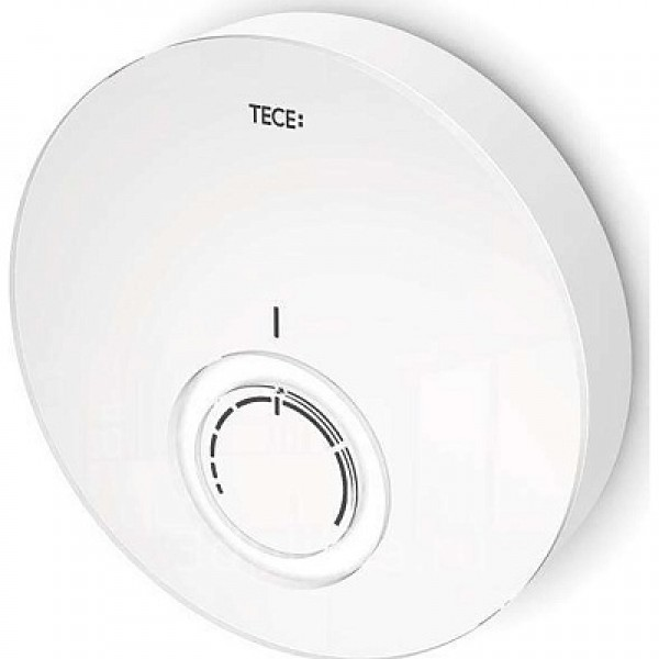 TECE Capac termostat design DT TECEfloor, sticla alba, carcasa alba (77400016)