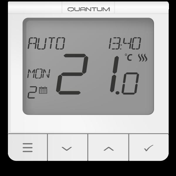 Salus Termostat seria Quantum, ecran extins și funcții avansate, montaj în doză, 230V WQ610