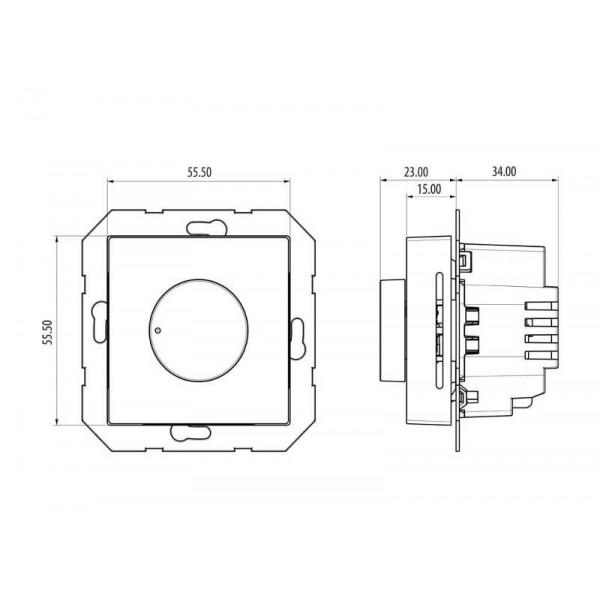 Salus Termostat cu buton rotativ, 230V, fără ramă aparat BTR230