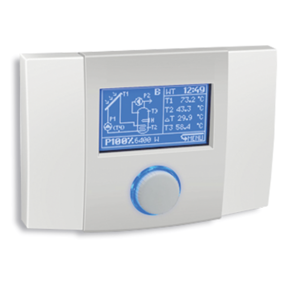 """Salus Controler solar cu display și control """"PWM"""" pentru pompă cu turație variabilă PCSol201"""