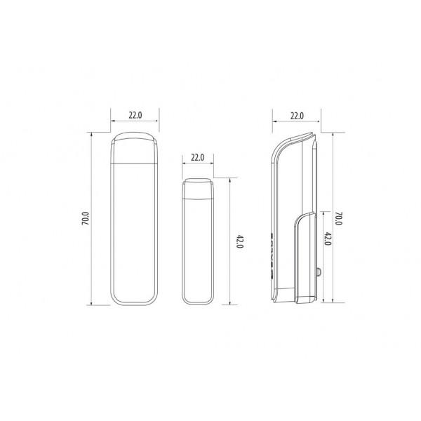 """Salus Senzor tip """"slim"""" pentru usă sau fereastră, cu baterie SW600"""