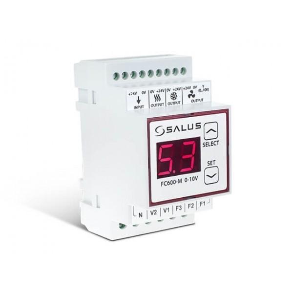 Salus Modul pt. conversie 3 trepte turație în semnal 0-10V, compatibil cu FC600, necesită alimentare 24V DC FC600-M  0-10V