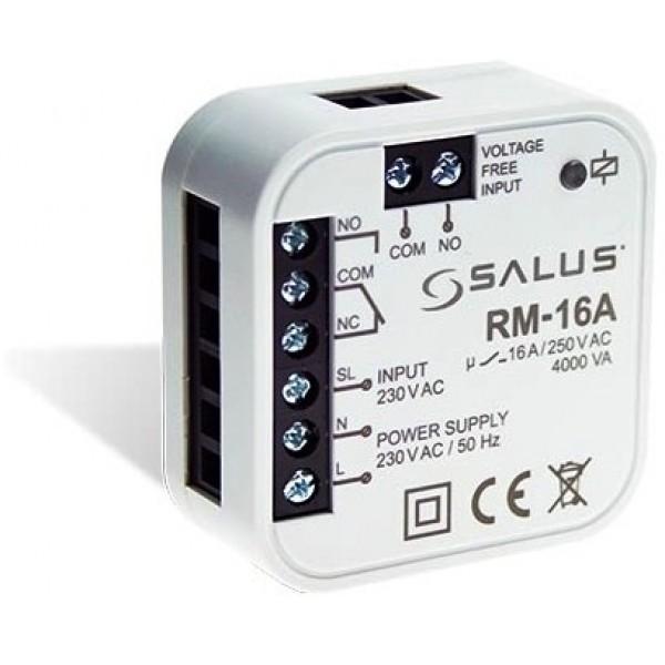 Salus Releu 16A NO/NC cu comandă la 230V sau contact liber de potențial (poate fi montat în doză) RM-16A
