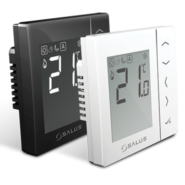 Salus Termostat neprogramabil, montaj în doză,  butoane tactile, negru VS35B