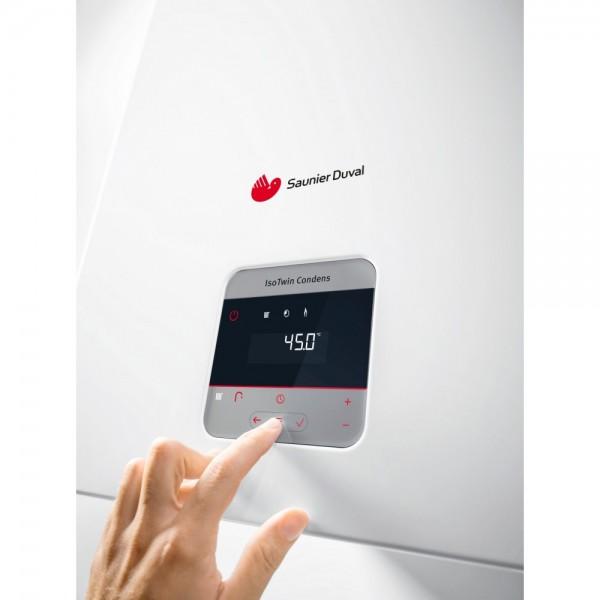 Centrala termica Saunier Duval IsoTwin Condens T 26 CS/1, boiler incorporat 42 litri (0010025222)