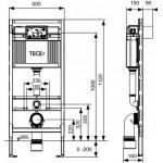 TECE Modul WC TECEprofil cu rezervor Uni, H 1120 mm (9300000)