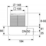 TECE Sifon complet extraplat TECEdrainpointS, ev, laterala DN50 (3601050)