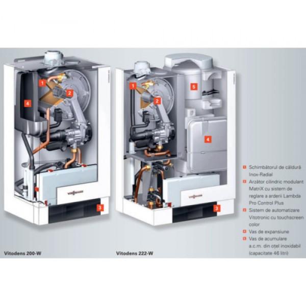 Viessmann Vitodens 200-W 120 kW Incalzire cu Vitotronic 200 HO1B (B2HAL67)