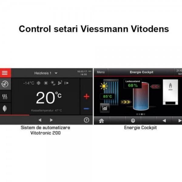 """Viessmann Vitodens 200-W 32 kW, cu afisaj 7"""" si boiler Vitocell 300 litri (Z020081)"""