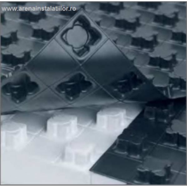 REHAU Placă cu nuturi Varionova 11 mm cu izolație 11 mm 22,40 m²